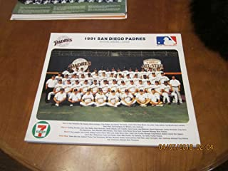 1991 San Diego Padres team picture 14x11
