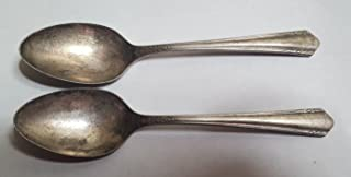 2 WM. A ROGERS A1 Plus Silverplate Dessert Spoons Set of 2