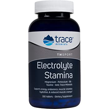 Trace Minerals Research Performance Electrolyte Stamina, High Performance Energy Formula of Balanced Ionic Minerals, 300 Tablets