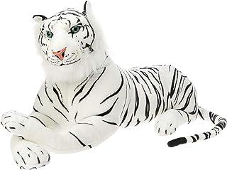 Elka Australia 25WH Laying Tiger Soft Plush Toy, White, 90 Centimeters