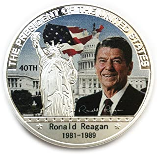 OZUKO 40th President Ronald Reagan Commemorative Coin Challenge Coins Novelty Coin Political Gift
