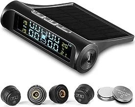 CICMOD TPMS Sistemas de Monitoreo de Presión de Neumáticos Solares Wireless con 4 Sensores Externos y Pantalla LCD Presión y Temperatura del Monitor en Tiempo Real