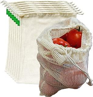 AUXIN,Reusable Grocery Cotton Mesh Produce Bags【Large 13