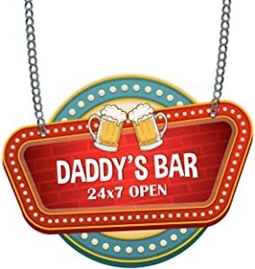 Family Shoping Daddys Bar Wall Hanger Home Décor Fathers Day Special (Daddys bar)