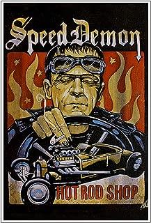 Speed Demon by Mike Bell Frankenstein Monster Hot Rod Mens Wall Art Poster Print