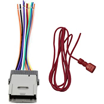[FPWZ_2684]  Amazon.com: RED WOLF Replacement Stereo Radio Wiring Harness Connector for  Select GM Chevy GMC 2000-2012 Model: Car Electronics | Gm 24 Pin Female Wiring Harness 03 Silverado |  | Amazon.com