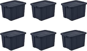 Sterilite 16788N06 Storage Tote, 18 Gallon, Dark Indigo , Pack of 6