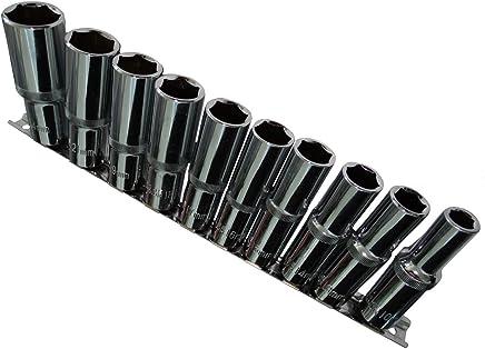 E24 . Aerzetix 9 sockets screwdriver bits 1//2 inches E-Torx E10 E11 E12 E14 E16 E18 E20 E22
