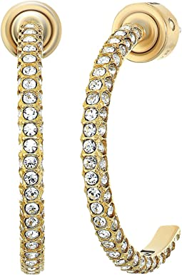Brilliance Pave Hoop Earrings