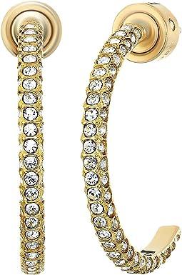 Brilliance Pave Hoop Earrings