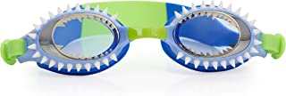 Bling 2O Kids Swimming Goggles - Blue Shark Teeth Swim Goggles for Boys - Anti Fog, No Leak, Non Slip, UV Protection with Hard Travel Case - 8+