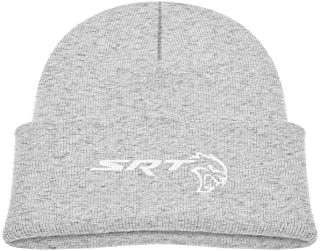 Kids SRT Demon and Sportscat Hellcat Beanie Hats Cute Warm Adjustable Caps for Boys&Girls