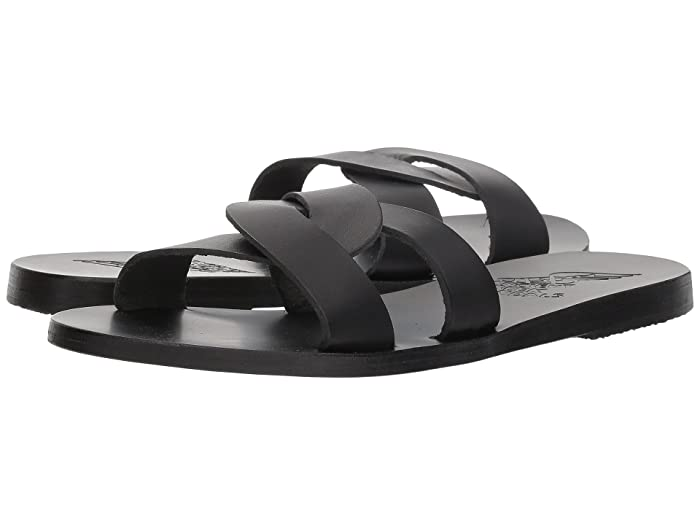 Ancient Greek Sandals  Desmos (Black Vachetta) Womens Sandals