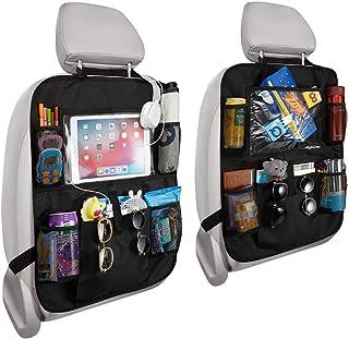 PUBAMALL Organizador para asiento trasero de automóvil y protector con señal de coche para bebé y bebés, asientos de tapic...