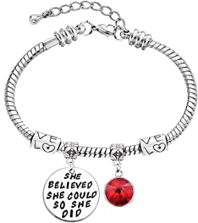 LINKY She Believed She Could So She Did Inspirational Metal Bracelet