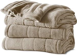 Sunbeam Heated Blanket | Microplush, 10 Heat Settings, Mushroom, Full - BSM9KFS-R772-16A00