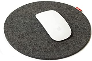 Pack & Smooch Mouse Pad with Anti-Slip Backside 100% Merino Wool Felt Gray
