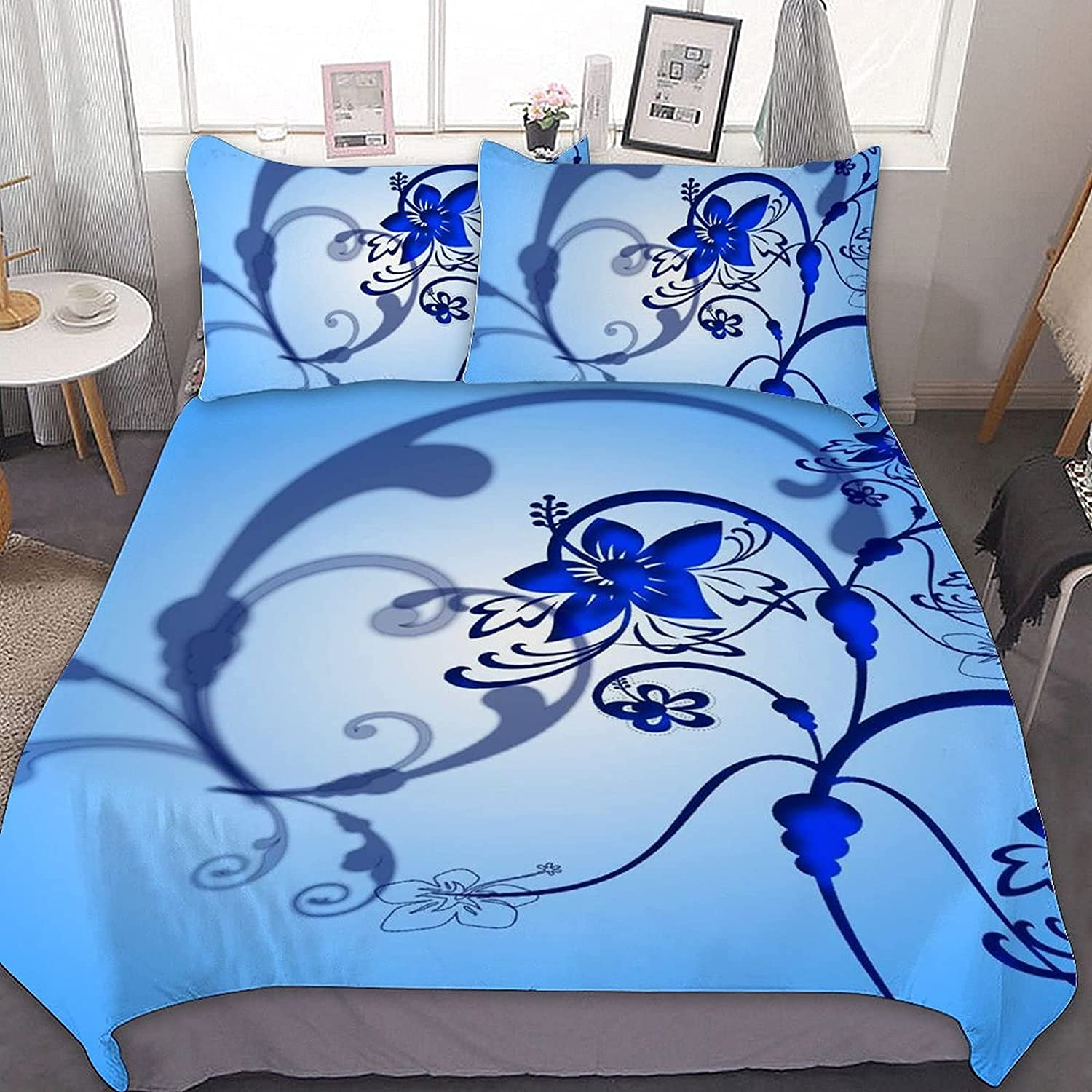 Floral Pattern Bedding Set Comforter Cover Bedspread Finally popular brand Queen Soft New arrival