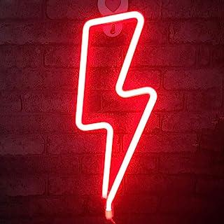 LED Lightning Form Neon Sign Licht Kunst dekorative Lichter Wand Dekor für Baby Zimmer Weihnachten Hochzeit Party Supplies...
