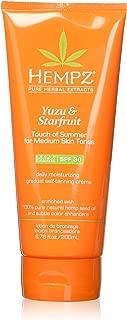 Hempz Yuzu & Starfruit Touch Of Summer Moisturizing Gradual Self-tanning Creme, 6.76 Oz, 6.76 Oz