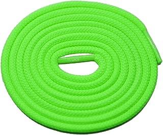 neon green round shoelaces
