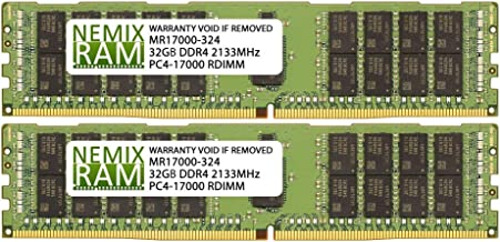 64GB (2x32GB) DDR4-2133MHz PC4-17000 ECC RDIMM 2Rx4 1.2V Registered Memory for Server/Workstation