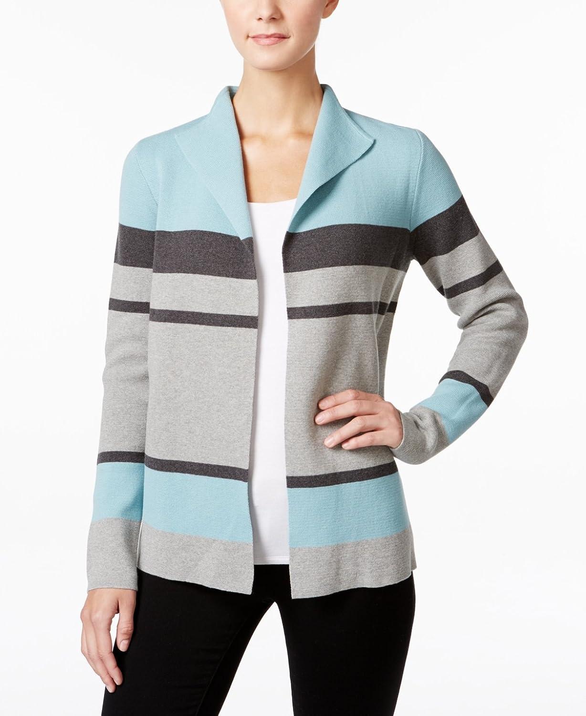 Charter Club Womens Colourblock Cardigan Sweater