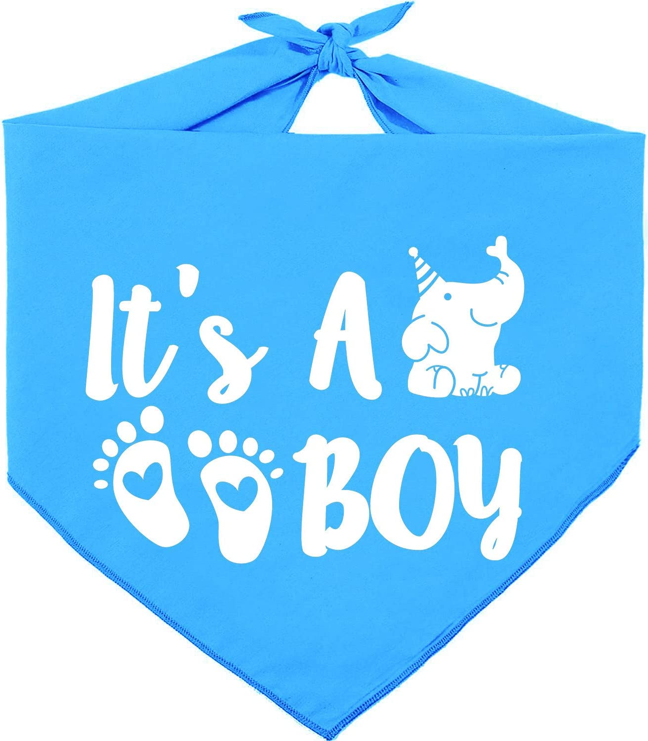Super beauty product restock quality top Challenge the lowest price of Japan ☆ Pawskido It's A Boy Gender Reversible Triangl Dog Bandana Reveal