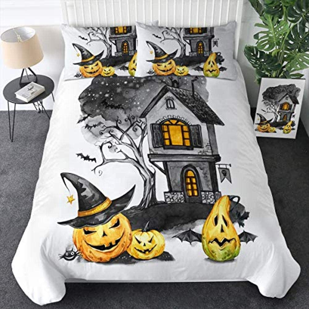 JCYUEDRN Bedding Set Queen 90X90 Lanter outlet Pumpkin Inches Halloween Quantity limited