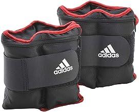 Adidas Unisex Adult Adwt-12230 Adjustable Ankle Weights, Black/Red, 4 Kg