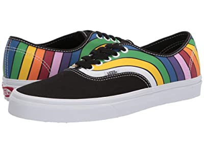 Vans Authentictm ((Refract) Black/True White/Multi) Skate Shoes