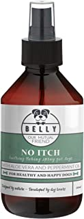 Belly No-Itch Dog Spray I 8.45 Fl Oz I All Natural Anti-Itch Spray for Dogs I Skin Treatment with Aloe Vera and Peppermint...