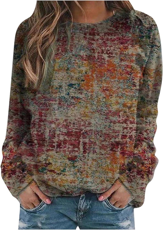 Sweatshirts for Women,Women's Teen Girls Fashion Loose Printed Long Sleeve Hoodies Hooded Sweatshirts Pullover Tops