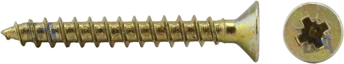 100 tornillos 3,5 x 15 mm toda rosca IROX acero galvanizado cabeza cruz Pozidriv PZD plana avellanada tornillo para madera y aglomerado 3,5 x 15 aglomerados