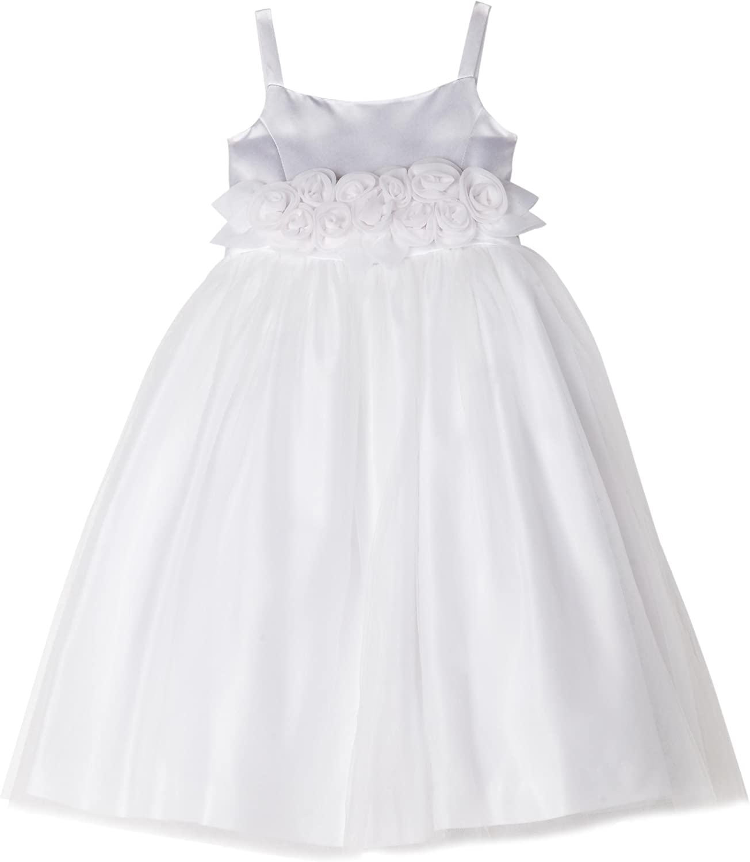 Bonnie Jean Little Girls' Flower Girl Dress With Organza Flowers