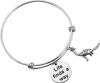 Jurassic Park Charm Bracelet Life Finds a Way Bracelet