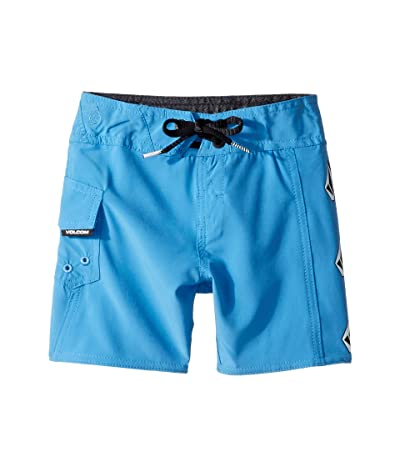 Volcom Kids Deadly Stone Mod Boardshorts (Toddler/Little Kids) (Free Blue) Boy