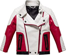 Botaobabe Boys Stand-up Collar Faux Leather Jacket Kids Costumes