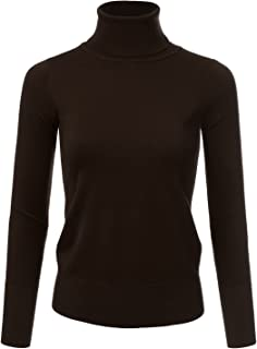 NINEXIS Women's Long Sleeve Turtle Neck Knit Sweater Top with Plus Size