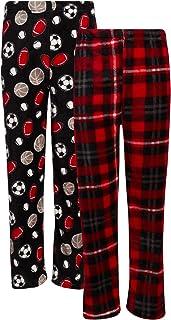 Beverly Hills Polo Club Boys Coral Fleece Lounge Pajama Pants 2 Pack