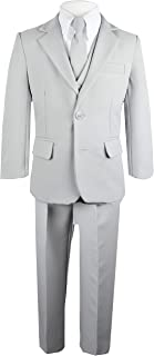 Boys Solid Suit and Tie Formal Outift