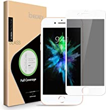 Privacy Screen Protector for iPhone 8 7 6s 6 - ICHECKEY 3D Curved Anti-Spy Anti-Peeping Tempered Glass Screen Cover Shield for Apple iPhone 8/7/6s/6, 4.7 Inch – White