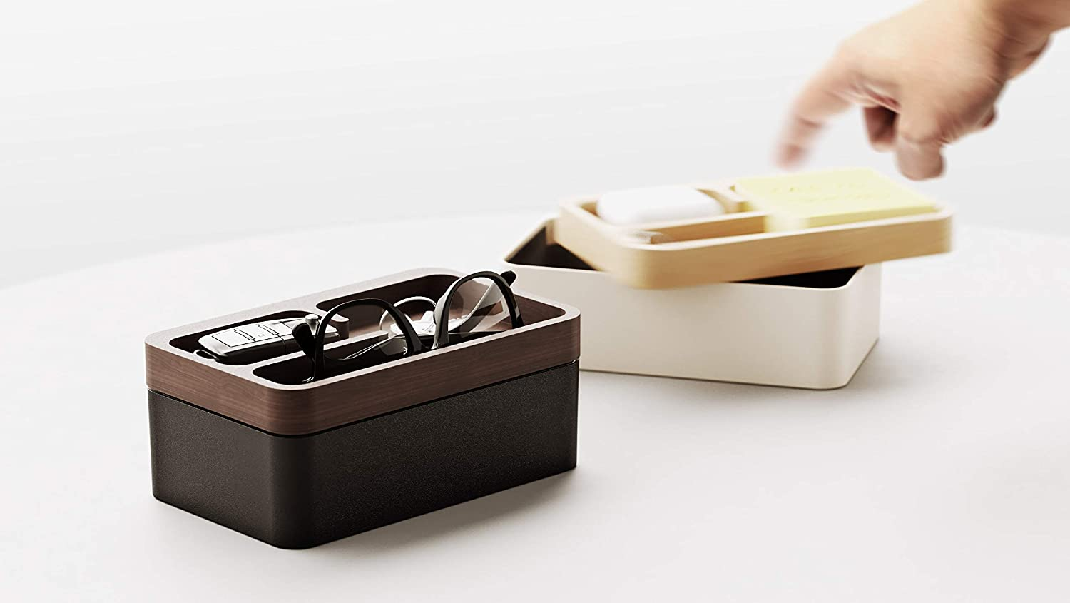 Revov Tray Box Year-end annual account Free Shipping New Gift Edition Bottom Aluminum Beech Upper+ Wood