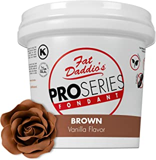 Fat Daddio's Rolled Fondant Icing Brown 8 Ounces