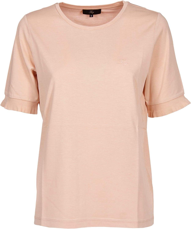 Fay Women's NPWB2386100QQAM008 Pink Cotton TShirt