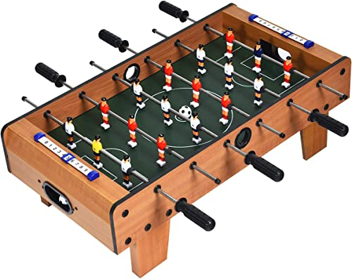 high quality Giantex Foosball Table, 27in Mini Football Table Game w/ 2 Footballs,Score popular outlet online sale Keepers, Wood Soccer Table Top for Kids, Family Night, Parties, Game Rooms outlet online sale