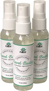 Futur Non-toxic Travel Buddy Cleaner for Surfaces + Hands 2 fl oz (59 ml) (Pack of 3 Spray Bottles)