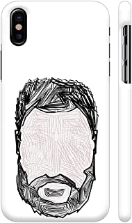 Colorpur Beard Abstract Pattern Printed Back Case Cover for iPhone Xs