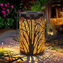 Solar Lantern Outdoor Lights for Decorative Atmosphere Hanging Garden Lantern Cylindrical Table Lamp Night Light Warm Ligh...