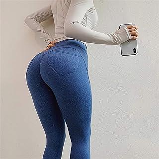 Beiziml Women's Yoga Pants with Butt Pocket 4 Way Stretch Workout Sportswear Jogging Gym Leggings Scrunch Butt Fitness Spo...